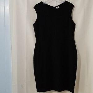 Merona Black Shift Dress Sz L